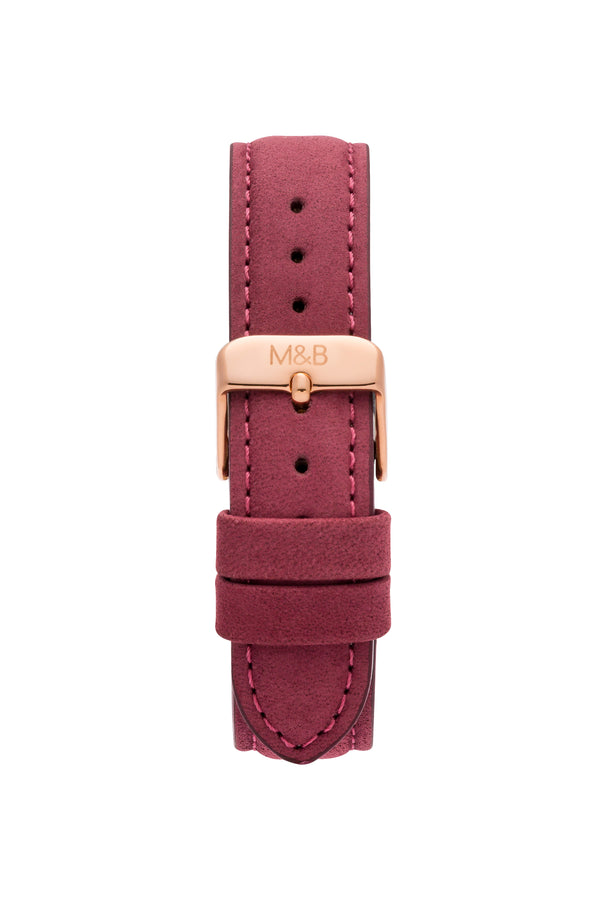 Bourdeaux Velvet STRAP - Rose Gold