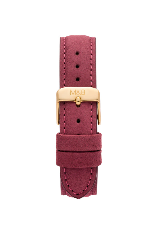 Gold/White ~ Bourdeaux Velvet women Watch