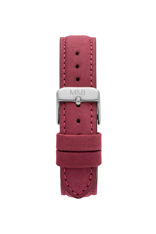 Silver/White ~ Bourdeaux Velvet women Watch