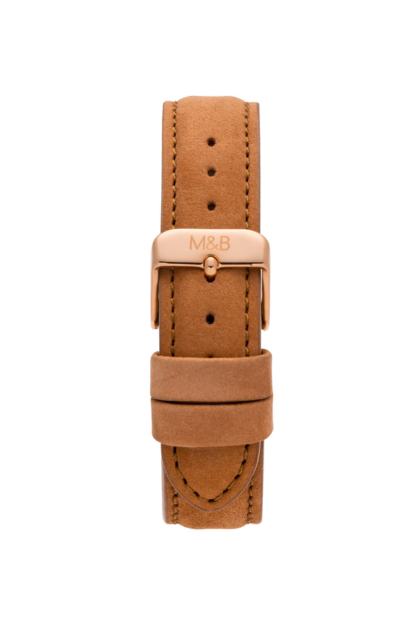 Rose Gold/White ~ Brown Velvet women Watch