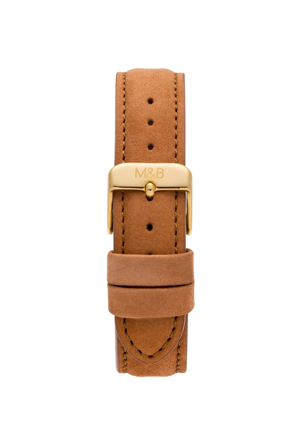 Brown Velvet STRAP - Gold