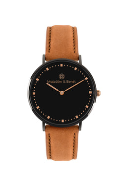 Black ~ Brown Velvet women Watch