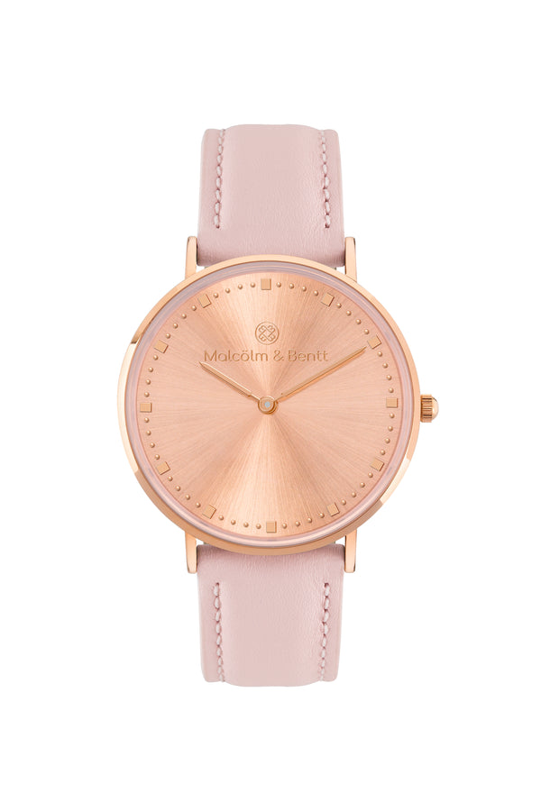 Rose Gold Shiny ~ Pink Leather