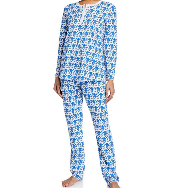 Monkey Pajamas Blue