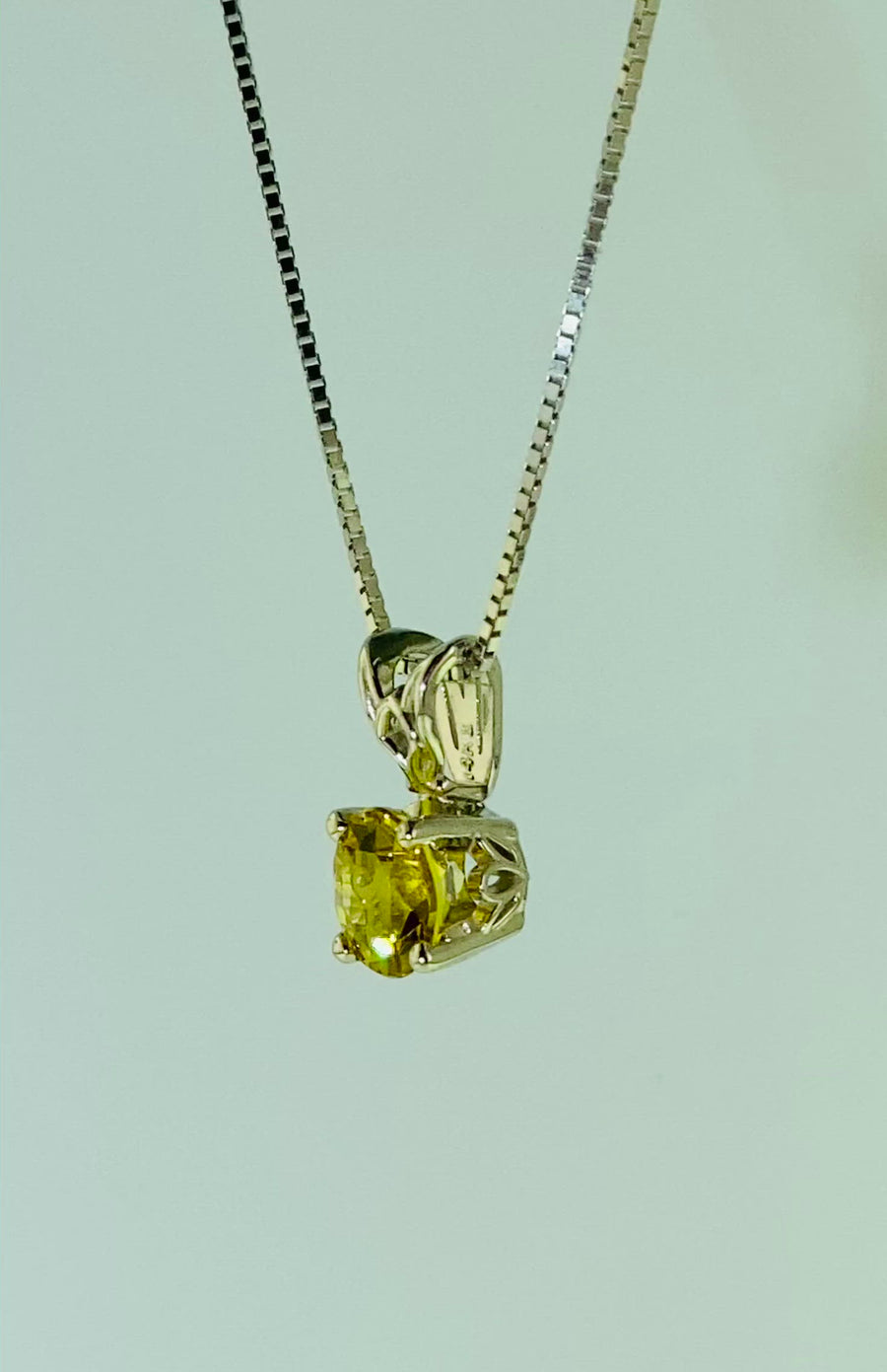 Scroll Solitaire Pendant 6mm Rd