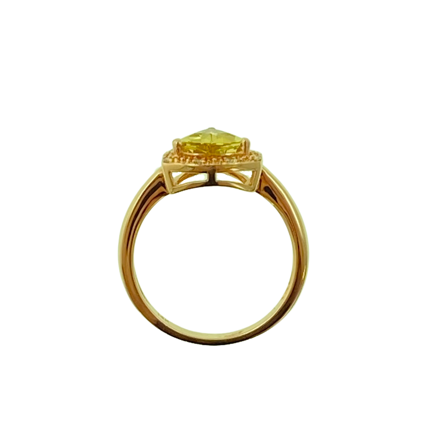 Trillion Ring- Rose Gold