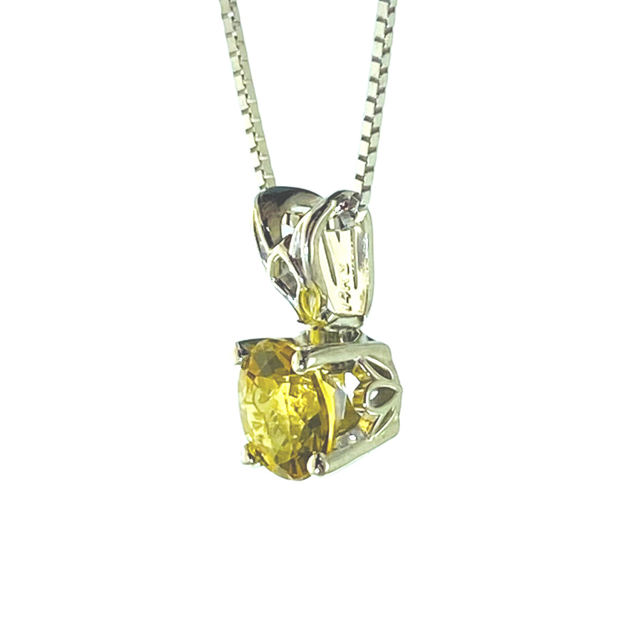 Scroll Solitaire Pendant 7mm Rd
