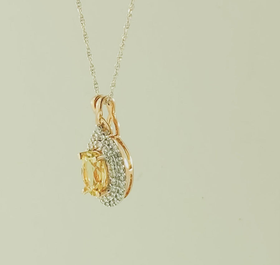 Oval Pendant- Rose Gold