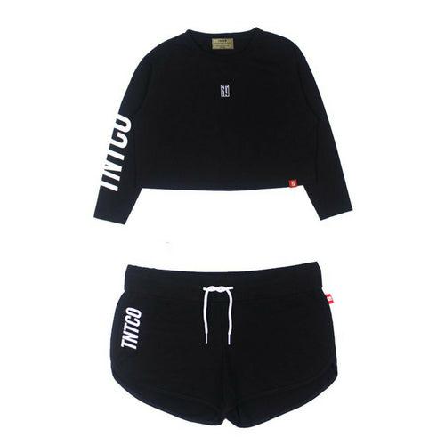 Outbreak Women L/S Cropped Top Combo