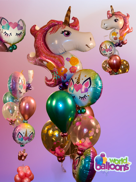 Pink Unicorn Balloon Bouquet