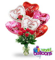 Balloon Combo with Flowers