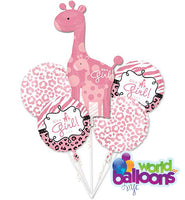 It's A Girl Giraffe Balloon Bouquet