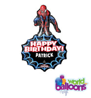 "33"" Spiderman Birthday Personalized Shape Balloon Bouquet"