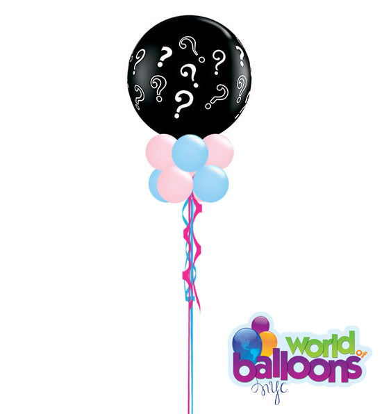 3Ft Gender Reveal Confetti Balloon w/tassel