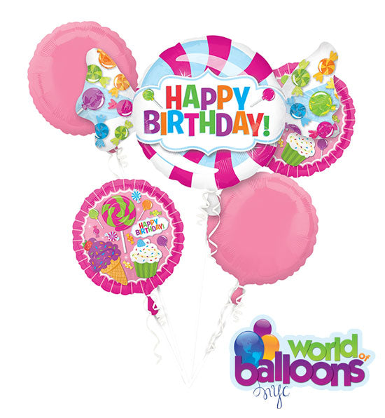 Candy Happy Birthday Balloon Bouquet
