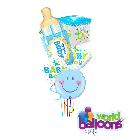 Assortment Baby Boy Balloon Bouquet