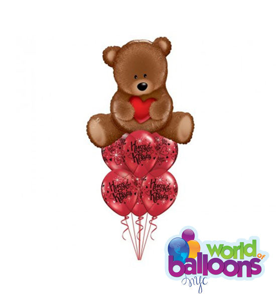 Balloon Bouquet Love Teddy Bear