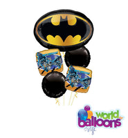 Batman Logo Birthday Balloon Bouquet