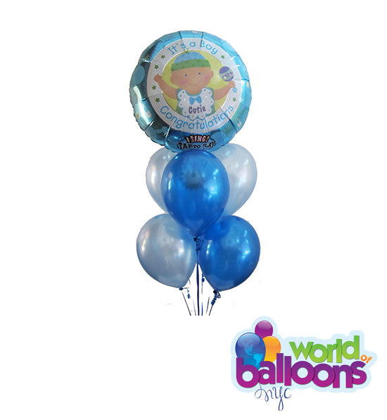 It's a Boy Singing Balloon Bouquet