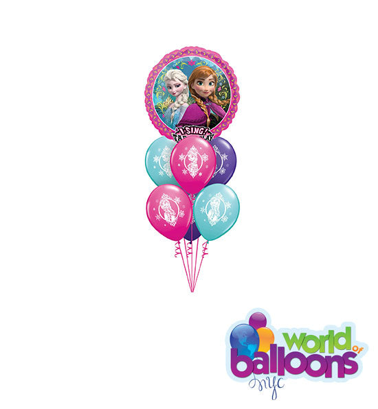 Frozen Singing Balloon Bouquet