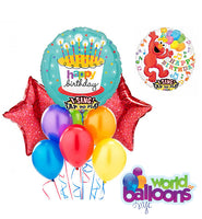Happy Birthday Cake Singing Balloon Bouquet