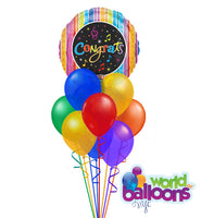 Sing a Tune - Congrats Balloon Bouquet 12 Pcs