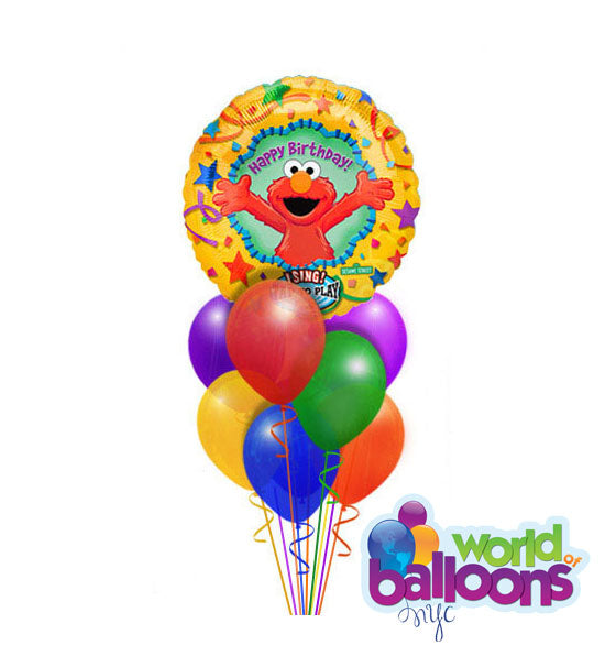 Elmo Singing Balloon Bouquet
