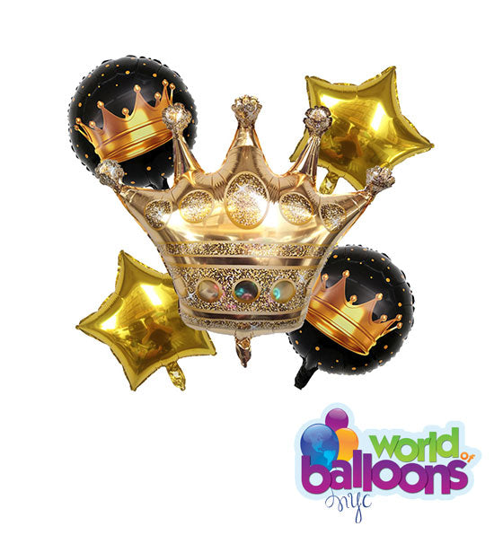 Golden Crow Balloon Bouquet