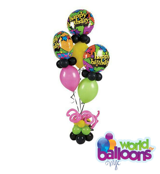Happy Birthday Link Balloon Bouquet