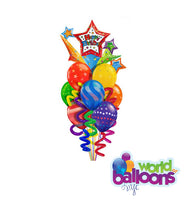 Twisty Colorful  Jumbo Balloon Bouquet