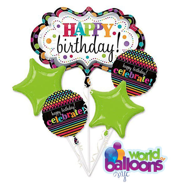 Happy Birthday Celebrate Balloon Bouquet
