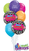 Happy Leopard Birthday Balloon Bouquet