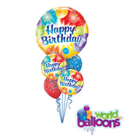 Colorful Happy Birthday Balloon Bouquet