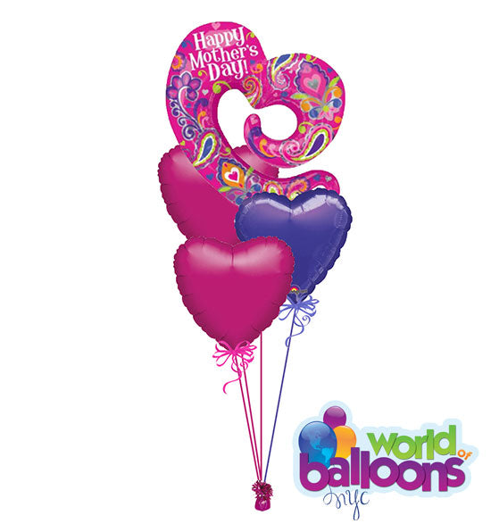Open Heart Happy Mother's Day Balloon Bouquet
