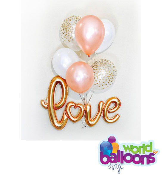 Confetti - Love Script Balloon Bouquet