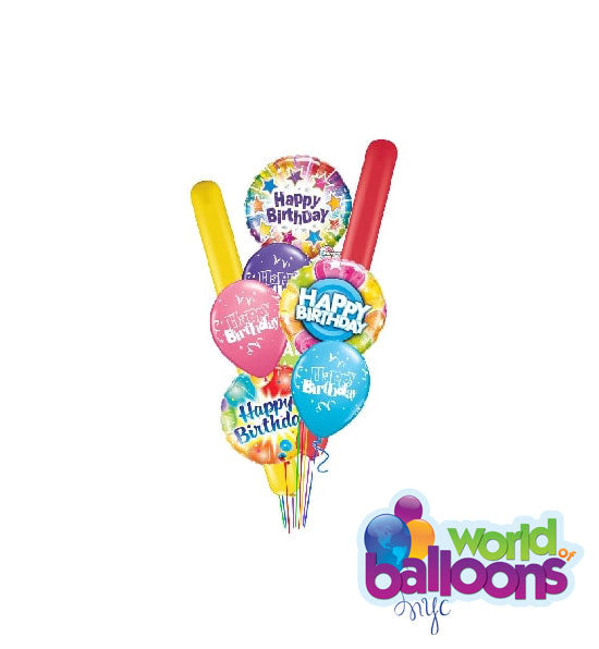 Explosion Birthday Balloon Bouquet