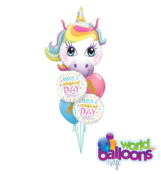 Have a Magical Day Unicorn Balloon Bouquet