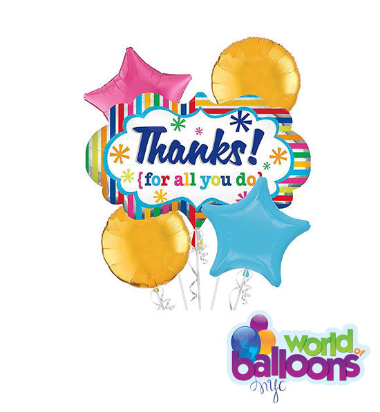Thanks for all you do Balloon Bouquet