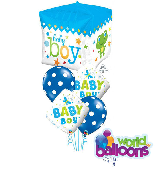 Cubez Baby Boy Balloon Bouquet