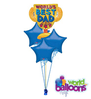 World's Best Dad Trophy Balloon Bouquet