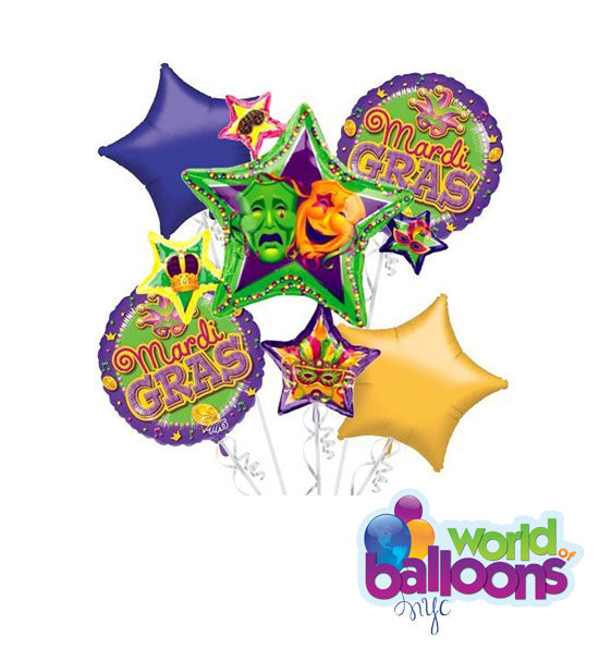 Mardi Gras Balloon Bouquet