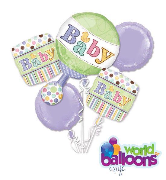 Sweet Baby Rattle Duck Balloon Bouquet