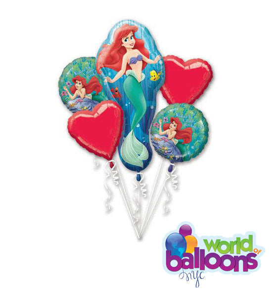 Disney Princess Little Mermaid Balloon Bouquet