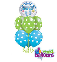 Birth Certificate Baby Boy Balloon Bouquet