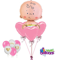 Oh Baby! Pink Balloon Bouquet