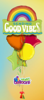 Good Vibes RAINBOW Balloon Bouquet 5 Pcs