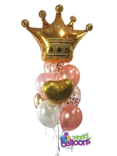 Jumbo Crown Queen/King  Balloon Bouquet