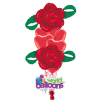 Love  Red Rose Balloon Bouquet 9 pieces