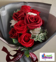Bunch of Roses Scented Soap Artificial Flower Bouquet