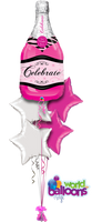 Pink Bottle Celebration Balloon Bouquet